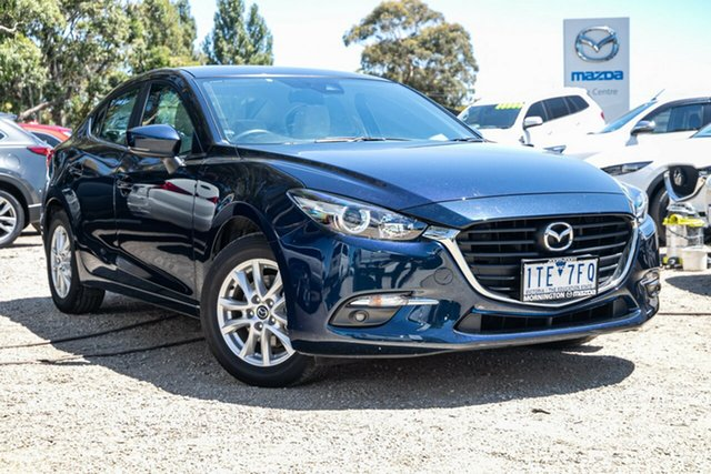 Used Mazda 3 BM5278 Touring SKYACTIV-Drive Mornington, 2016 Mazda 3 BM5278 Touring SKYACTIV-Drive Deep Crystal Blue 6 Speed Sports Automatic Sedan