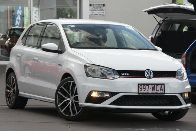 Used Volkswagen Polo 6R MY15 GTI DSG Windsor, 2015 Volkswagen Polo 6R MY15 GTI DSG White 7 Speed Sports Automatic Dual Clutch Hatchback