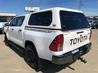 2018 Toyota Hilux GUN126R SR White Sports Automatic Utility.