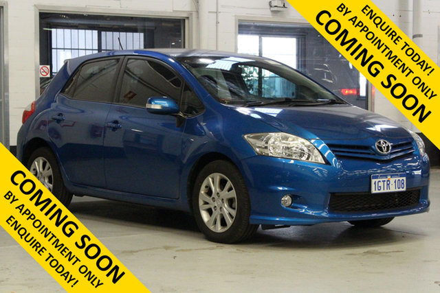 Used Toyota Corolla ZRE152R MY11 Ascent Sport Bentley, 2011 Toyota Corolla ZRE152R MY11 Ascent Sport Blue 4 Speed Automatic Hatchback