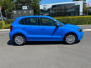 2014 Volkswagen Polo 6R MY15 66TSI DSG Trendline Blue 7 Speed Sports Automatic Dual Clutch Hatchback