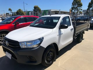 2018 Toyota Hilux GUN122R Workmate White Manual Cab Chassis.