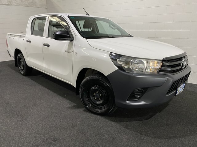 Used Toyota Hilux TGN121R Workmate Double Cab 4x2 Glenorchy, 2015 Toyota Hilux TGN121R Workmate Double Cab 4x2 White 6 Speed Sports Automatic Utility