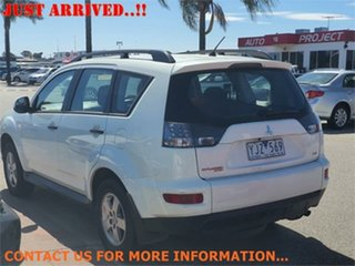 2011 Mitsubishi Outlander ZH LS White Constant Variable Wagon