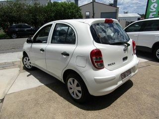 2013 Nissan Micra K13 MY13 ST White 5 Speed Manual Hatchback.