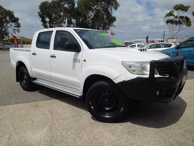 Used Toyota Hilux KUN26R MY12 SR Double Cab Wangara, 2012 Toyota Hilux KUN26R MY12 SR Double Cab White 4 Speed Automatic Utility
