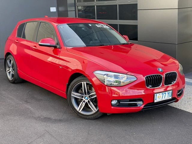 Used BMW 118i F20 118i Hobart, 2012 BMW 118i F20 118i Red 8 Speed Sports Automatic Hatchback