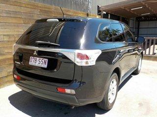 2012 Mitsubishi Outlander ZJ MY13 LS 2WD Black 6 Speed Constant Variable Wagon.