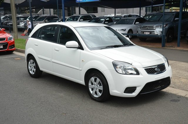 Used Kia Rio JB MY10 S Toowoomba, 2010 Kia Rio JB MY10 S White 4 Speed Automatic Hatchback