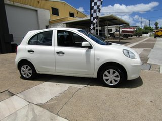 2013 Nissan Micra K13 MY13 ST White 5 Speed Manual Hatchback