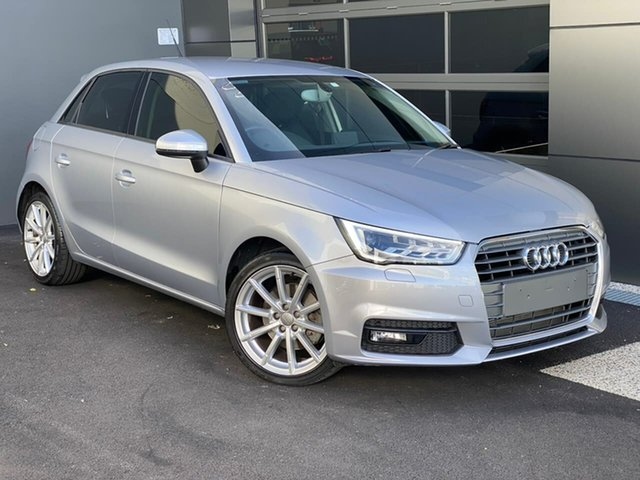 Used Audi A1 8X MY17 Sport Sportback S Tronic Hobart, 2017 Audi A1 8X MY17 Sport Sportback S Tronic Silver 7 Speed Sports Automatic Dual Clutch Hatchback