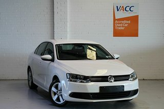 2013 Volkswagen Jetta 1B MY13.5 118TSI DSG Comfortline White 7 Speed Sports Automatic Dual Clutch.