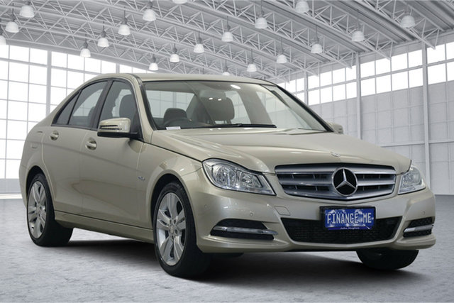 Used Mercedes-Benz C-Class W204 MY11 C200 BlueEFFICIENCY 7G-Tronic + Victoria Park, 2011 Mercedes-Benz C-Class W204 MY11 C200 BlueEFFICIENCY 7G-Tronic + Champagne 7 Speed