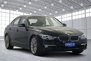 2016 BMW 3 Series F30 LCI 320i Luxury Line Black 8 Speed Sports Automatic Sedan.