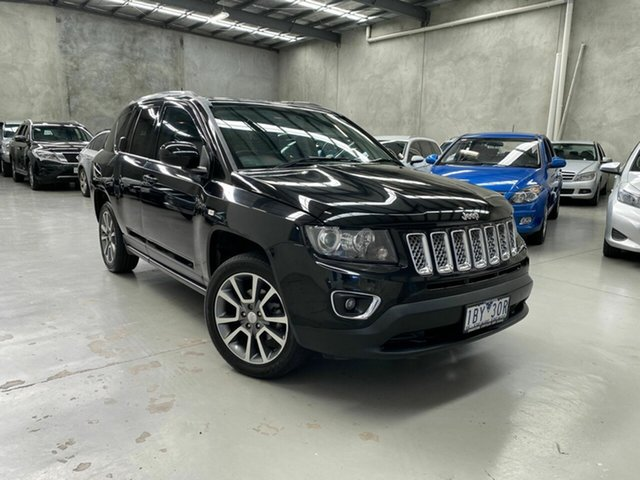 Used Jeep Compass MK MY15 Limited CVT Auto Stick Coburg North, 2014 Jeep Compass MK MY15 Limited CVT Auto Stick Black 6 Speed Constant Variable Wagon