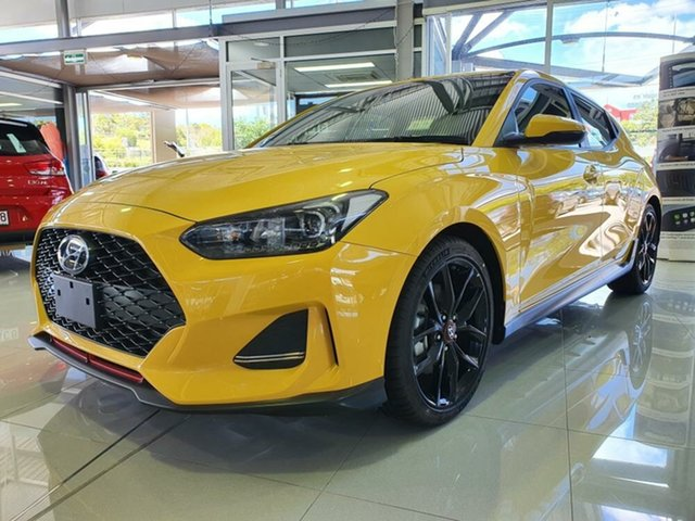 New Hyundai Veloster JS MY20 Turbo Coupe D-CT Springwood, 2019 Hyundai Veloster JS MY20 Turbo Coupe D-CT Thunder Bolt 7 Speed Sports Automatic Dual Clutch
