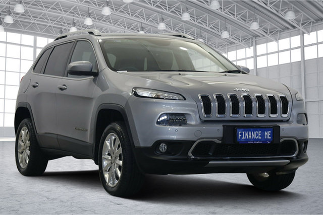 Used Jeep Cherokee KL MY15 Limited Victoria Park, 2014 Jeep Cherokee KL MY15 Limited Silver 9 Speed Sports Automatic Wagon