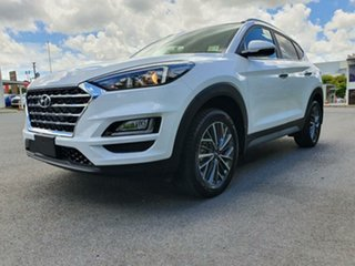 2020 Hyundai Tucson TL3 MY21 Elite AWD White Pearl 8 Speed Sports Automatic Wagon.