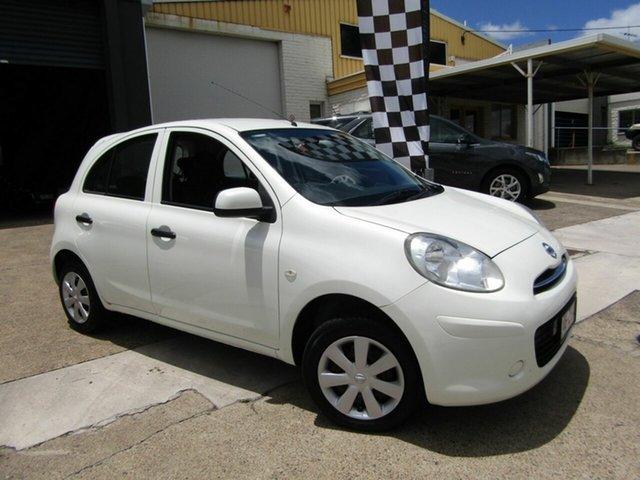 Used Nissan Micra K13 MY13 ST Moorooka, 2013 Nissan Micra K13 MY13 ST White 5 Speed Manual Hatchback