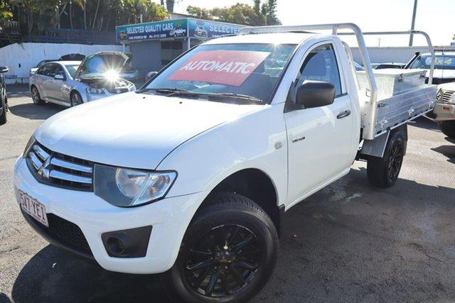 Used Mitsubishi Triton MN MY11 GLX 4x2 Moorooka, 2011 Mitsubishi Triton MN MY11 GLX 4x2 White 4 Speed Automatic Cab Chassis
