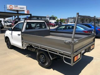 2018 Toyota Hilux GUN122R Workmate White Manual Cab Chassis