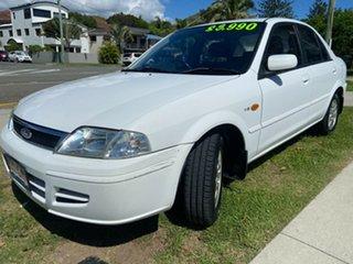 2001 Ford Laser KN GLXi White 4 Speed Automatic Sedan.