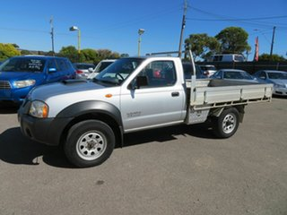 2009 Nissan Navara D22 MY08 DX (4x4) Silver 5 Speed Manual Cab Chassis.