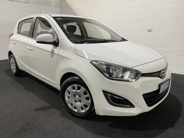 Used Hyundai i20 PB MY13 Active Glenorchy, 2013 Hyundai i20 PB MY13 Active Coral White 4 Speed Automatic Hatchback