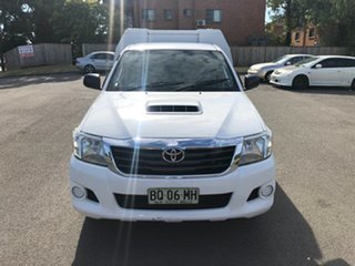 2012 Toyota Hilux KUN16R MY12 SR White 5 Speed Manual Cab Chassis