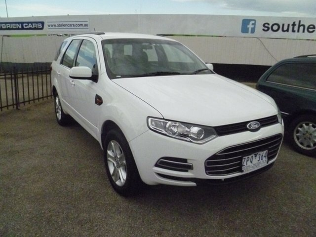 Used Ford Territory SZ TX Seq Sport Shift Moorabbin, 2013 Ford Territory SZ TX Seq Sport Shift White 6 Speed Sports Automatic Wagon