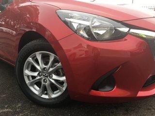 2015 Mazda 2 DL2SA6 Maxx SKYACTIV-MT Red/Black 6 Speed Manual Sedan.