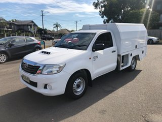 2012 Toyota Hilux KUN16R MY12 SR White 5 Speed Manual Cab Chassis.