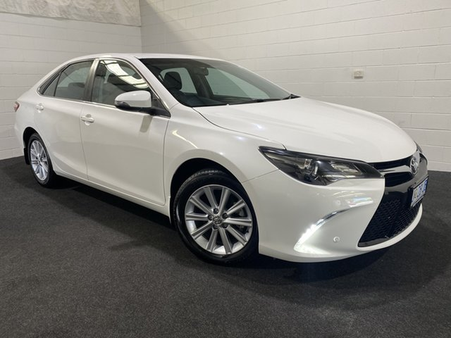 Used Toyota Camry ASV50R Atara S Glenorchy, 2017 Toyota Camry ASV50R Atara S White 6 Speed Sports Automatic Sedan