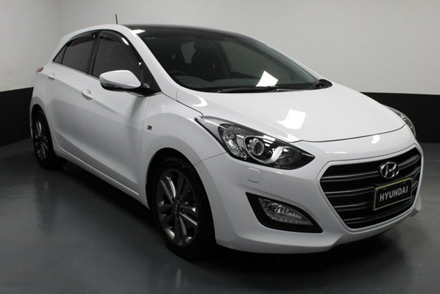 Used Hyundai i30 GD5 Series II MY17 SR Premium Hamilton, 2016 Hyundai i30 GD5 Series II MY17 SR Premium Polar White 6 Speed Sports Automatic Hatchback