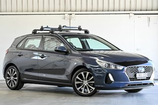 2018 Hyundai i30 PD MY18 Elite D-CT Blue 7 Speed Sports Automatic Dual Clutch Hatchback.