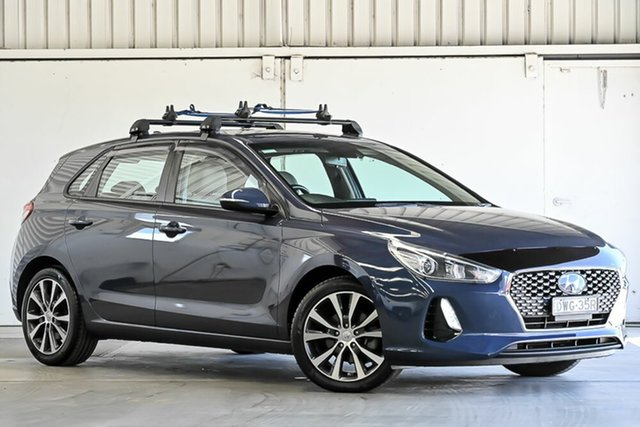 Used Hyundai i30 PD MY18 Elite D-CT Laverton North, 2018 Hyundai i30 PD MY18 Elite D-CT Blue 7 Speed Sports Automatic Dual Clutch Hatchback
