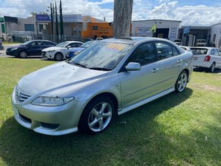 2004 Mazda 6 GG1031 MY04 Luxury Silver 4 Speed Sports Automatic Hatchback.