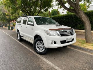 2013 Toyota Hilux KUN26R MY14 SR Double Cab White 5 Speed Automatic Utility.