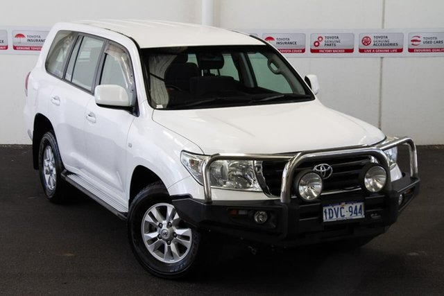 Pre-Owned Toyota Landcruiser VDJ200R MY10 GXL Myaree, 2011 Toyota Landcruiser VDJ200R MY10 GXL Glacier White 6 Speed Sports Automatic Wagon
