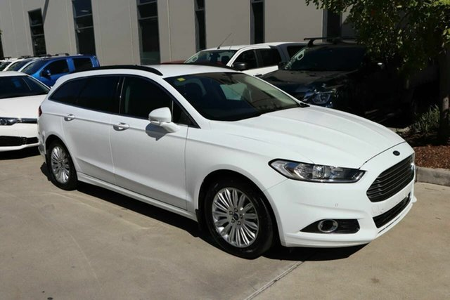 Used Ford Mondeo MD Trend Castle Hill, 2016 Ford Mondeo MD Trend White 6 Speed Sports Automatic Dual Clutch Wagon