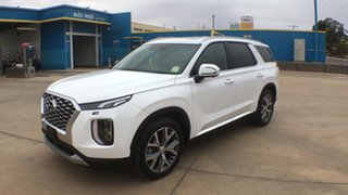 2020 Hyundai Palisade LX2.V1 MY21 Highlander 2WD White Cream 8 Speed Sports Automatic Wagon