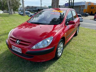 2003 Peugeot 307 T5 MY03 XSE Red 4 Speed Sports Automatic Hatchback.