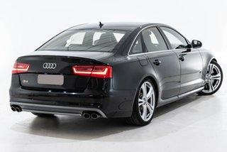 2012 Audi S6 4G MY13 S Tronic Quattro Black 7 Speed Sports Automatic Dual Clutch Sedan.