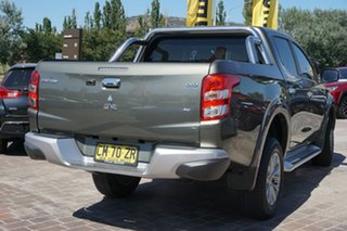 2017 Mitsubishi Triton MQ MY17 GLS Double Cab Green 5 Speed Sports Automatic Utility