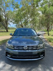 2020 Volkswagen Tiguan 5N MY21 162TSI Highline DSG 4MOTION Allspace Platinum Grey 7 Speed.