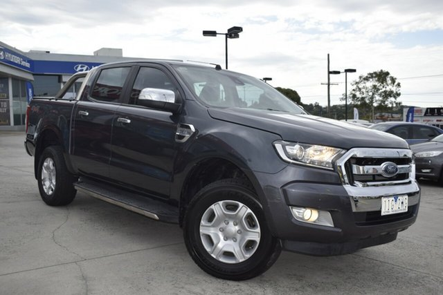 Used Ford Ranger PX MkII XLT Double Cab Ferntree Gully, 2016 Ford Ranger PX MkII XLT Double Cab Grey 6 Speed Manual Utility