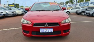 2009 Mitsubishi Lancer CJ MY09 ES Red 6 Speed Constant Variable Sedan.