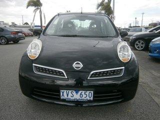 2010 Nissan Micra K12 Black 4 Speed Automatic Hatchback.