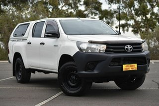 2017 Toyota Hilux GUN125R Workmate Double Cab White 6 Speed Sports Automatic Utility.