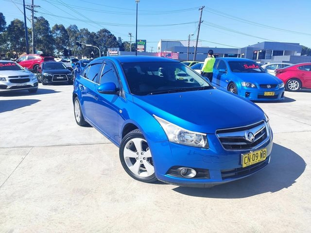 Used Holden Cruze JG CDX Liverpool, 2011 Holden Cruze JG CDX Blue 6 Speed Sports Automatic Sedan